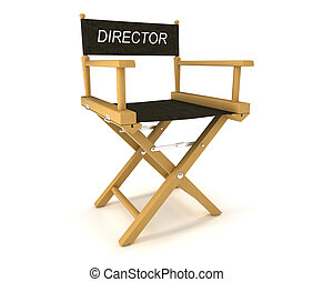 Flim industry: directors chair on white - Flim industry:...