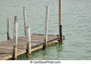 Boat Dock - An old boat dock at a lake