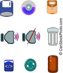 icons on white