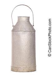 metal milk churn studio cutout