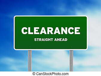 Clearance Highway Sign