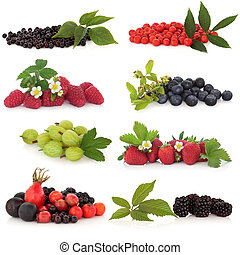 Berry Fruit Sampler - Raspberry, strawberry, gooseberry,...
