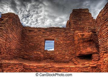 Wupatki Ruins, Arizona USA - The ruins of the Wupatki box...