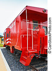 Red Caboose - Restored Red steal caboose from Niles Canyon...