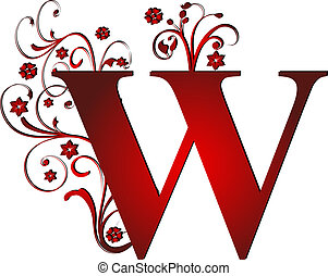 capital letter W red
