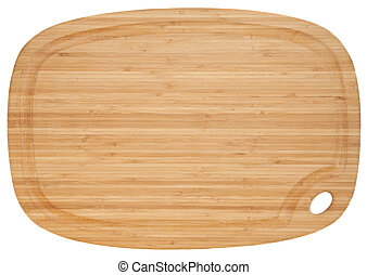 bamboo cutting board - bamboo wood cutting board isolated on...