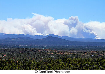 Smoke from Wallow Fire, AZ - Smoke billowing from the Wallow...