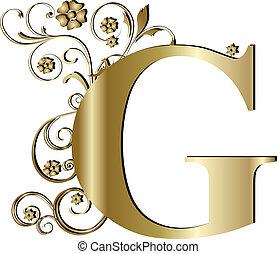 capital letter G gold