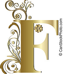 capital letter F gold