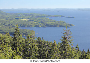 Finland - the land of thousand lakes. - A View from Koli...