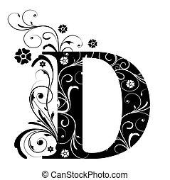 Letter Capital D