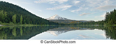 Mount Hood from Trillium Lake Panorama - Mount Hood from...