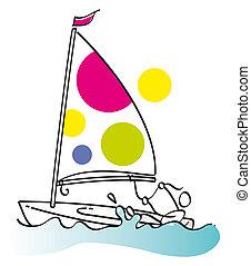 Funny sailling man