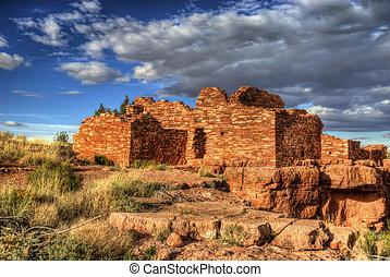 Lomaki Ruins, Arizona USA - The ruins of the Lomaki box...