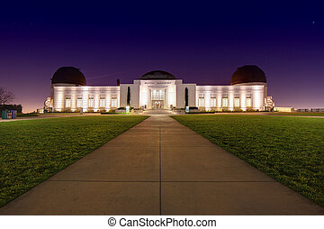 Landmark Griffith Observatory in Los Angeles, California -...