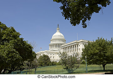Capitol and house of Representatives to the right,...