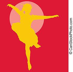 Dancing ballerina silhouette