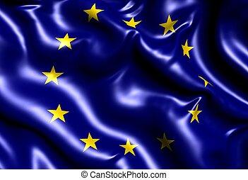 Flag of EU. Close up.
