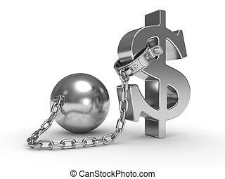 shackle dollar symbol