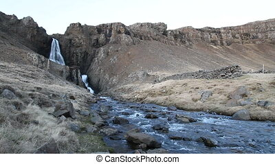 Waterfall in the Westfjords