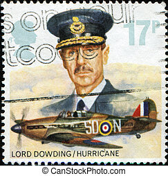 Lord Dowding and Hawker Hurricane Mk I from Royal Air Force...