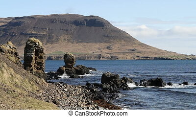 Shoreline in the Westfjords - The rugged shoreline on the...