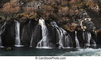 Hraunfoss in Iceland