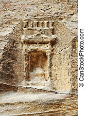 Ancient artifact godness tomb in Petra