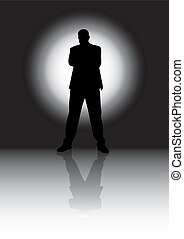 Silhouette man  - black and white silhouette