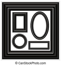 Frames Set - Modern Picture frames for your own photos or...