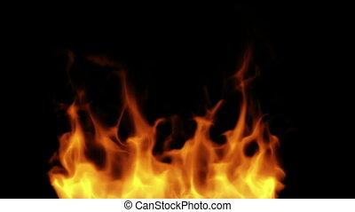 Fire alpha matte