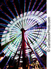 Ferris Wheel in Kobe Japan spinning 2 - Ferris Wheel...