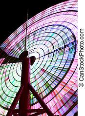 Ferris Wheel Spinning at Night 2 - Bright Spinning Ferris...