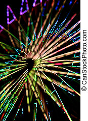 Abstract Colorful Spinning Ferris Wheel 2 - Abstract...