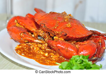 Chilli Crab - An oriental dish - Chilli Crab
