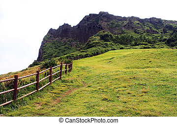 Jeju Island, South Korea - Seongsan sunrise peak on Jeju...