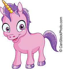 Smiling unicorn