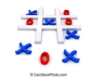 Tic Tac Toe - Play noughts and crosses. Tic Tac Toe . 3D