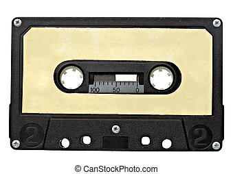 music audio tape vintage - close up of vintage audio tape on...
