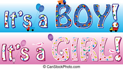 Boy girl announcement
