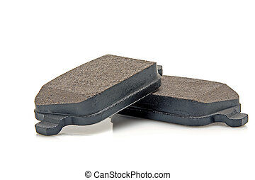 car brake pads - automobile brake pads on a white background