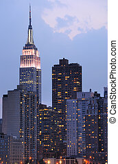 Midtown Manhattan Skyline Including Empire State Building -...