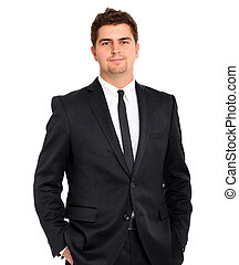 Handsome businessman - A picture of a handsome confident...