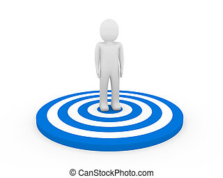 3d man target - 3d man human target center blue hit