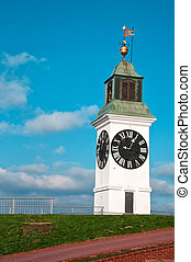 Petrovaradin Clock - Big Petrovaradin clock tower on the...