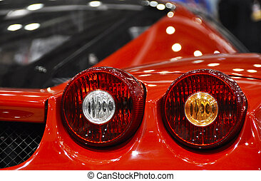 Detail of an Italian sportscar
