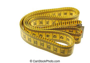 Un, costurera, Sastres, medición, cinta, aislado,...