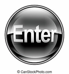 Enter icon black, isolated on white background
