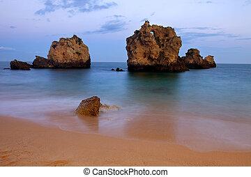 algarve - long exposure at the ocean in algarve, Portugal