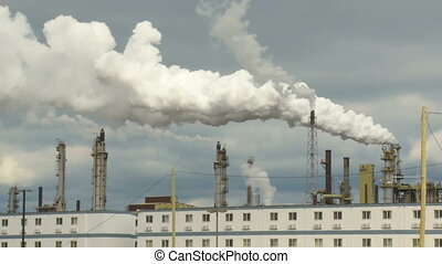 Oil sands processing plant